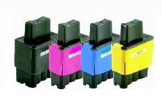 Brother LC900/LC41 Compatible Ink Cartridges Full Set of 4 Black/Cyan/Magenta/Yellow