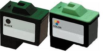 Lexmark 16 (10N0016) Black and Lexmark 26 (10N0026) Colour High Capacity Remanufactured Ink Cartridge