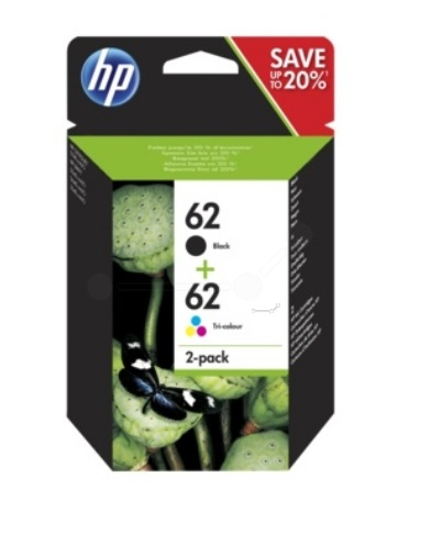 Original HP 62 Black & Colour Twin Pack (N9J71AE)