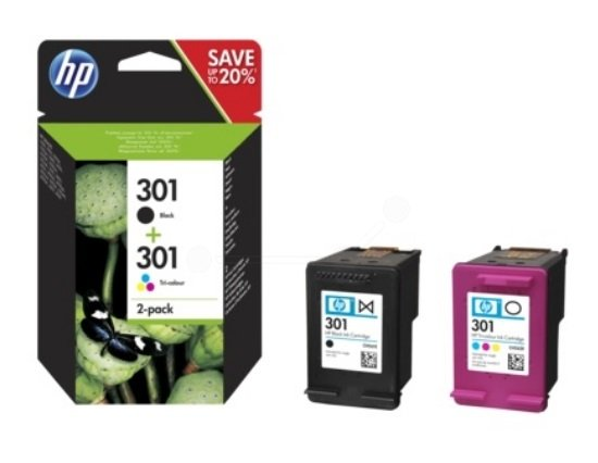 HP Original Black & Colour 301 (N9J72AE) Ink Cartridge Multipack