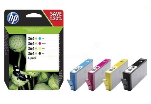 HP Original 364XL Combo Pack of 4 Ink Cartridges Black/Cyan/Magenta/yellow (N9J74AE)