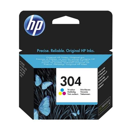 Original HP 304 Tri-Colour Inkjet Cartridge (N9K05AE)