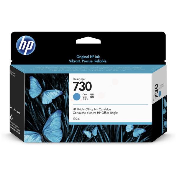 Original HP 730 Cyan Inkjet Cartridge P2V62A