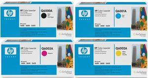 HP Original Q600 Toner Cartridge Multipack (Black/Cyan/Magenta/Yellow)