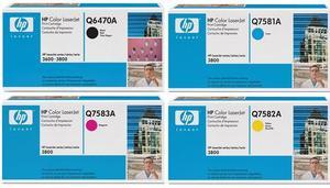 HP Original Q647 Toner Cartridge Multipack (Black/Cyan/Magenta/Yellow)