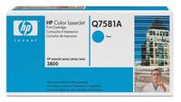 Original Q7581A HP Cyan Toner Cartridge