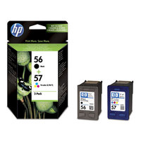 HP Original 56 and 57 black and colour Combo-pack Inkjet Print Cartridges (SA342AE)