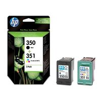 HP Original 350 and 351 black and colour Combo-pack Inkjet Print Cartridges (SD412EE)