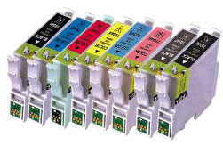 Compatible Epson T0341/T0342/T0343/T0344/T0345/T0346/T0347/T0348 Cartridges Full Set