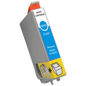 Compatible Epson T0592 Cyan Ink Cartridge