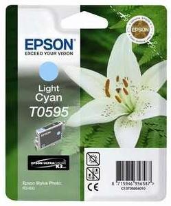 Original Epson T0595 Light Cyan Ink Cartridge