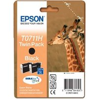 Original Epson T0711H Twin Pack Black Ink Cartridge (C13T07114010)