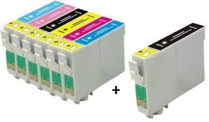 Compatible Epson T0801/T0802/T0803/T0804/T0805/T0806 Cartridges Full Set + EXTRA BLACK