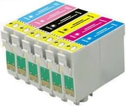 Compatible Epson T0801/T0802/T0803/T0804/T0805/T0806 Cartridges Full Set