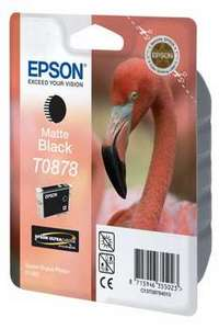 Original Epson T0878 Matt Black Ink Cartridge