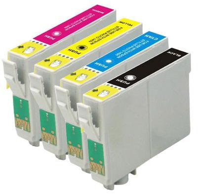Compatible Epson T1281/T1282/T1283/T1284 Cartridges Full Set