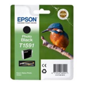 Original Epson T1591 Photo Black Ink Cartridge