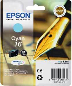Epson Original T1622 Cyan Ink Cartridge (Series 16)
