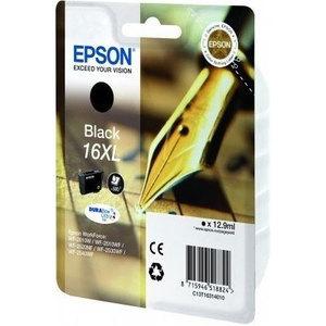 Epson Original T1631 Black High Capacity Ink Cartridge (16XL)