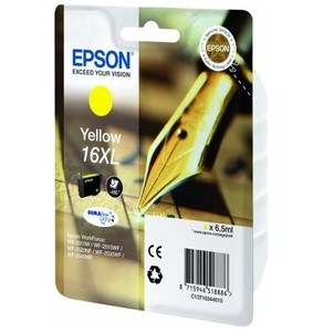 Epson Original T1634 Yellow High Capacity Ink Cartridge (16XL)