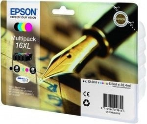 Epson Original T1636 (Series 16XL) Pack Of 4 (Black,Cyan,Magenta,Yellow)