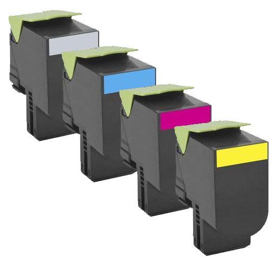 Compatible Lexmark C540H1 Toner Cartridge Multipack Black/Cyan/Magenta/Yellow