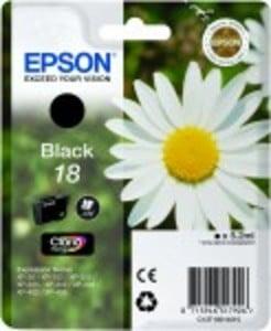 Epson Original 18 Black Ink Cartridge (C13T18014010)