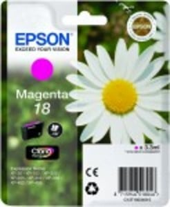 Epson Original 18 Magenta Ink Cartridge (C13T18034010)