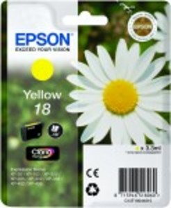 Epson Original 18 Yellow Ink Cartridge (C13T18044010)