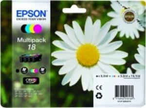Epson Original 18 Colour Multipack 4 Cartridges (Black,Cyan,Magenta,Yellow) (C13T18064010)