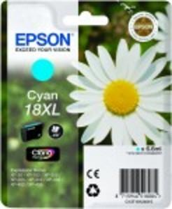 Epson Original 18XL High Capacity Cyan Ink Cartridge (C13T18124010)