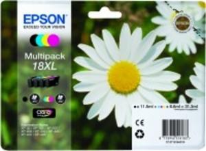 Epson Original 18XL High Capacity Set Of 4 Cartridges (Black,Cyan,Magenta,Yellow) (C13T18164010)