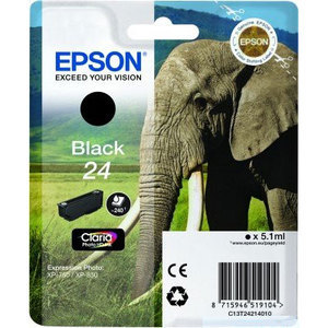 Epson Original T2421 Black Ink Cartridge (24 Series)