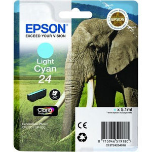 Epson Original T2425 Light Cyan Ink Cartridge (24 Series)
