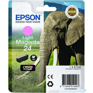 Epson Original T2426 Light Magenta Ink Cartridge (24 Series)