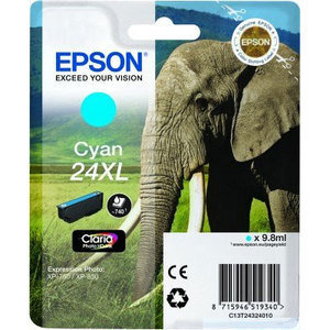 Epson Original T2432 Cyan High Capacity Ink Cartridge (24XL)