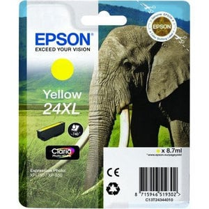 Epson Original T2434 Yellow High Capacity Ink Cartridge (24XL)