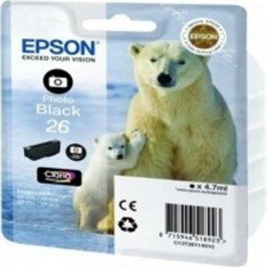 Epson Original T2611 Photo Black Ink Cartridge (Series 26)