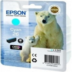 Epson Original T2612 Cyan Ink Cartridge (Series 26)