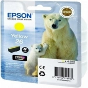 Epson Original T2614 Yellow Ink Cartridge (Series 26)