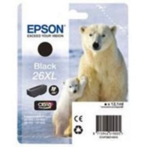 Epson Original T2621 Black High Capacity Ink Cartridge (26XL)