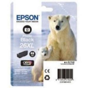Epson Original T2631 Photo Black High Capacity Ink Cartridge (26XL)