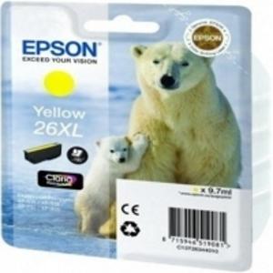 Epson Original T2634 Yellow High Capacity Ink Cartridge (26XL)