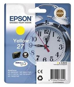 Epson Original T2704 Yellow Ink Cartridge (C13T27044010)