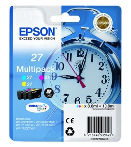 Epson Original T2705 Pack Of 3 Ink Cartridge (Cyan/Magenta/Yellow)