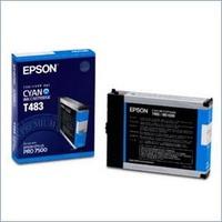 Original Epson T483 Cyan Ink Cartridge