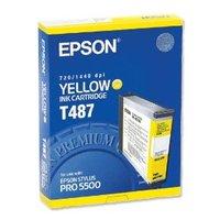 Original Epson T487 Yellow Ink Cartridge