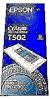 Original Epson T502 Cyan Ink Cartridge