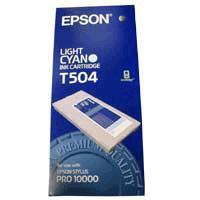 Original Epson T504 Light Cyan Ink Cartridge