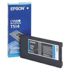 Original Epson T514 Cyan Ink Cartridge